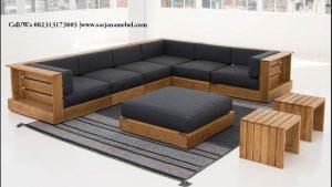 Kursi Tamu Sofa Sudut L Minimalis