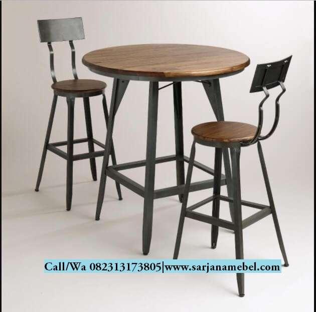 Set Kursi Bar Cafe Rangka Kaki Besi   SARJANA MEBEL