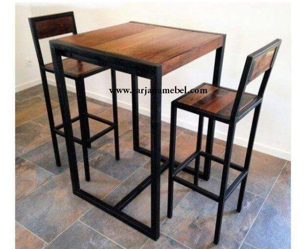 Set Meja Kursi Bar Murah Industrial | SARJANA MEBEL