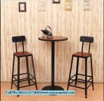 Set Meja Kursi Bar Stool Industrial