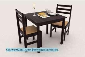 Set Meja Makan Cafe 2 Kursi Murah | SARJANA MEBEL