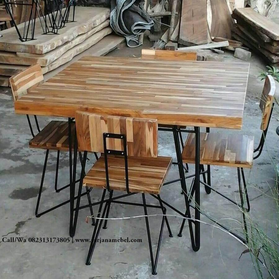 Meja Makan Cafe Rangka Besi Minimalis Murah