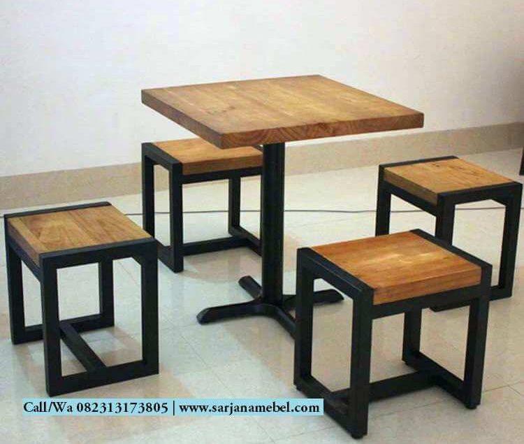 Set Kursi Cafe Rangka Besi Dengan 4 Kursi | SARJANA MEBEL