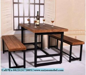 Set Kursi Bangku Makan Resto Minimalis