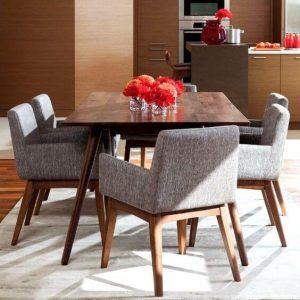 Set Kursi dan Meja Makan Minimalis Retro