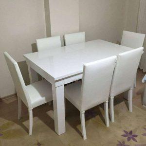 Set Meja Makan Minimalis Putih Duco