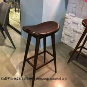 Kursi Bar Cafe Kayu Jati
