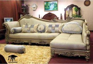 Kursi Sofa Sudut Ukir Bunga
