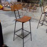 Kursi Bar Cafe Rangka Besi Lengkung