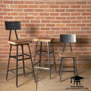 Kursi Bar Industrial Sandaran Besi