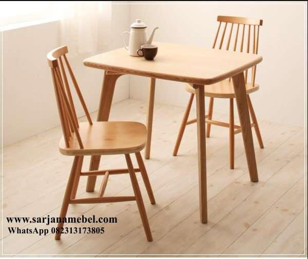 Gambar Set Kursi Makan Cafe Jari-jari