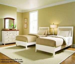 Set Tempat Tidur Anak Kembar Minimalis Duco