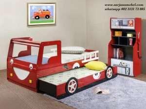 Tempat Tidur Anak Karakter Mobil Kebarakaran