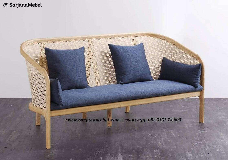 Gambar Bangku Sofa Rottan Minimalis Model Terbaru