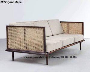 Sofa Tamu Rotan Minimalis Terbaru