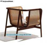 Sofa Minimalis Rotan 1 Dudukan Kayu Jati