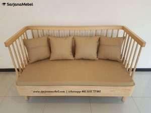 Sofa Minimalis Single Natural Terbaru