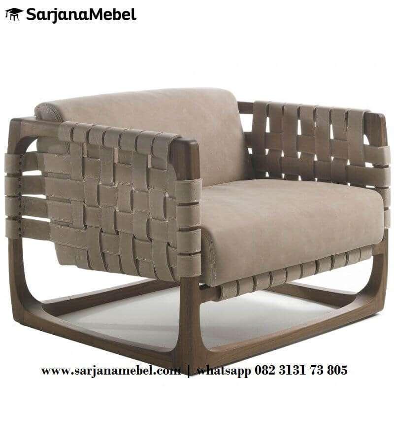 Kursi Sofa Single Unik Anyaman Webbing