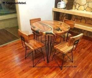 Set Kursi Makan Cafe Industrial