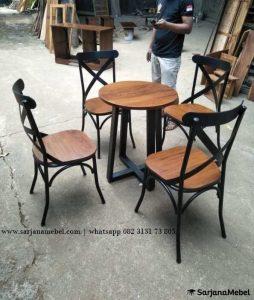 Set Kursi Makan Cafe Silang Industrial