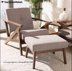 Sofa Santai Minimalis Kayu Jati