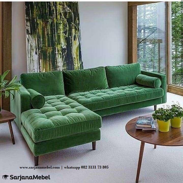 Gambar Set Sofa Mewah Model L