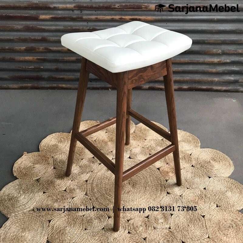 Gambar Bar Stool Kayu Jati Solid