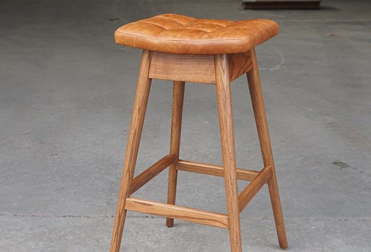 Gambar Bar Stool Natural Kayu Jati Solid