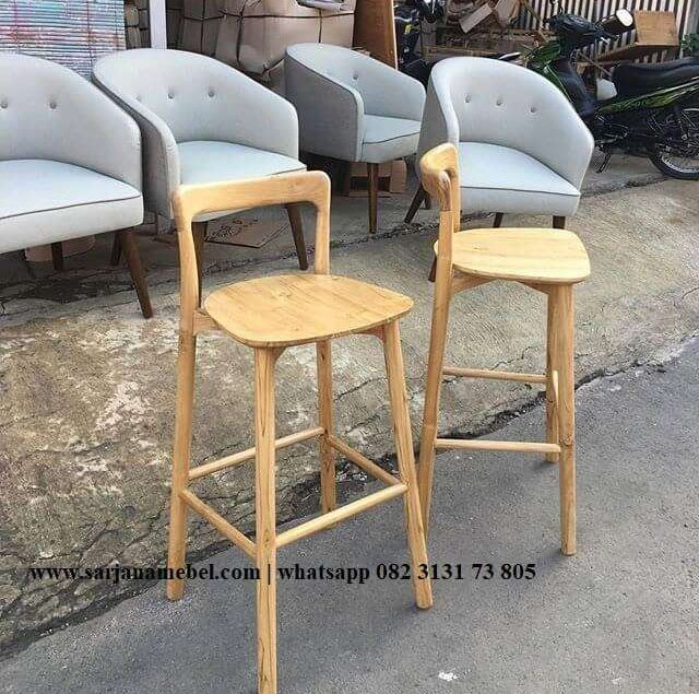 Kursi Bar Stool Retro Kayu Jati