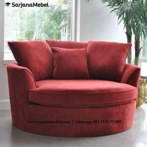 Sofa Santai Bundar Sarjana Mebel Jepara