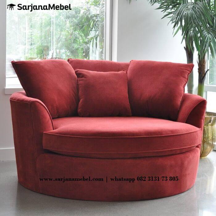 Gambar Sofa Santai Bundar Jepara