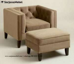 Sofa Santai Minimalis Coklat