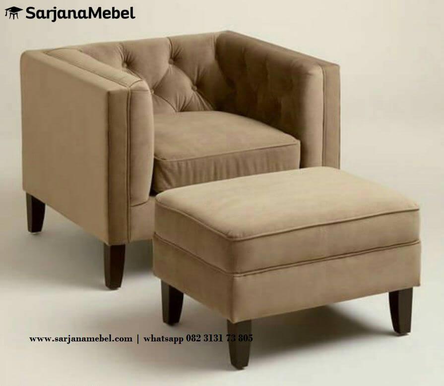 Gambar Sofa Santai Minimalis Coklat