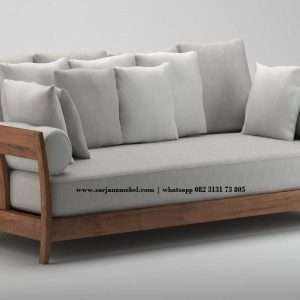 Gambar Sofa Retro 3 Seater Scandinavian | Sarjana Mebel